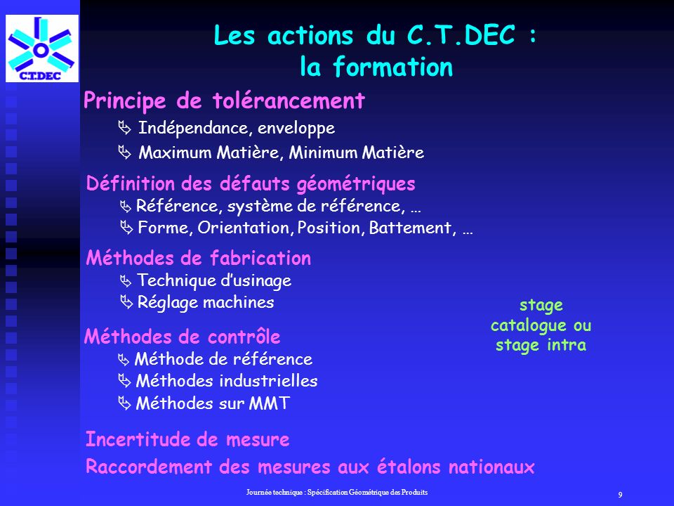 Les actions du C.T.DEC : la formation