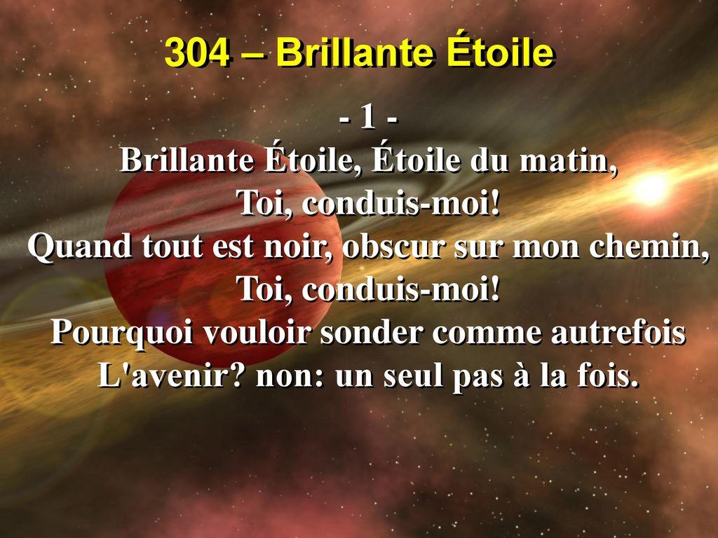 304 Brillante étoile Brillante étoile étoile Du Matin