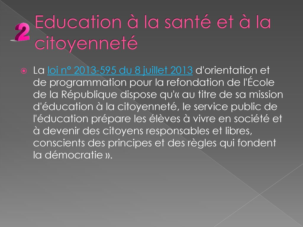 Comite Education Sante Citoyennete Ppt Telecharger