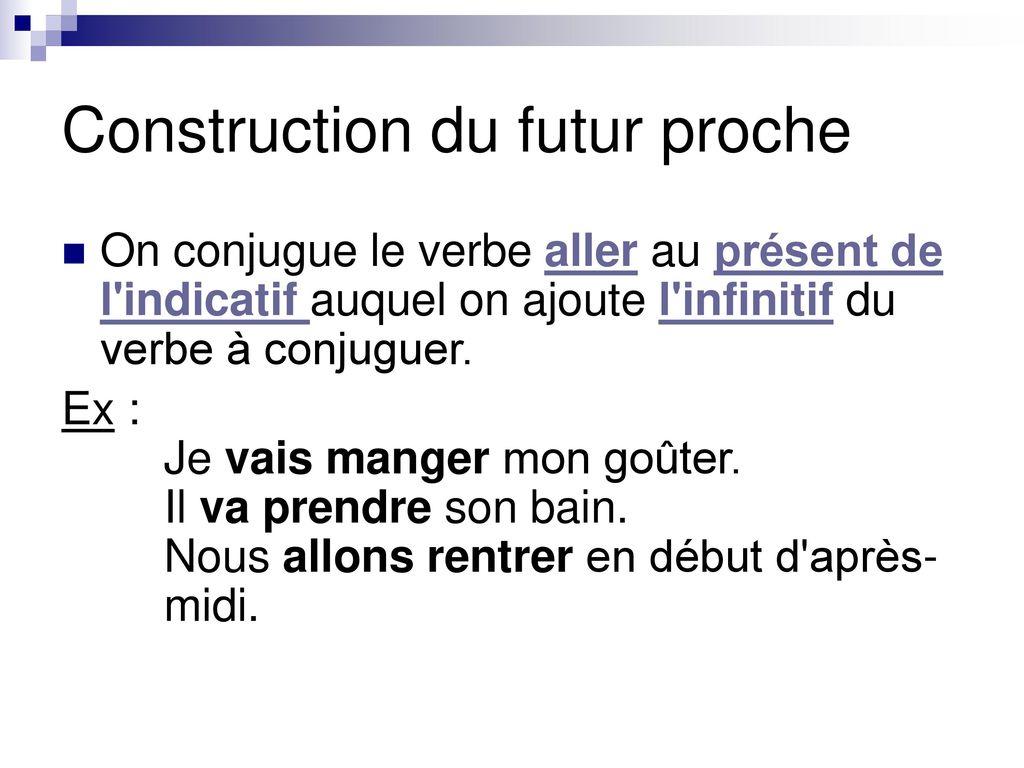 Aller Infinitif Le Futur Proche Ppt Telecharger