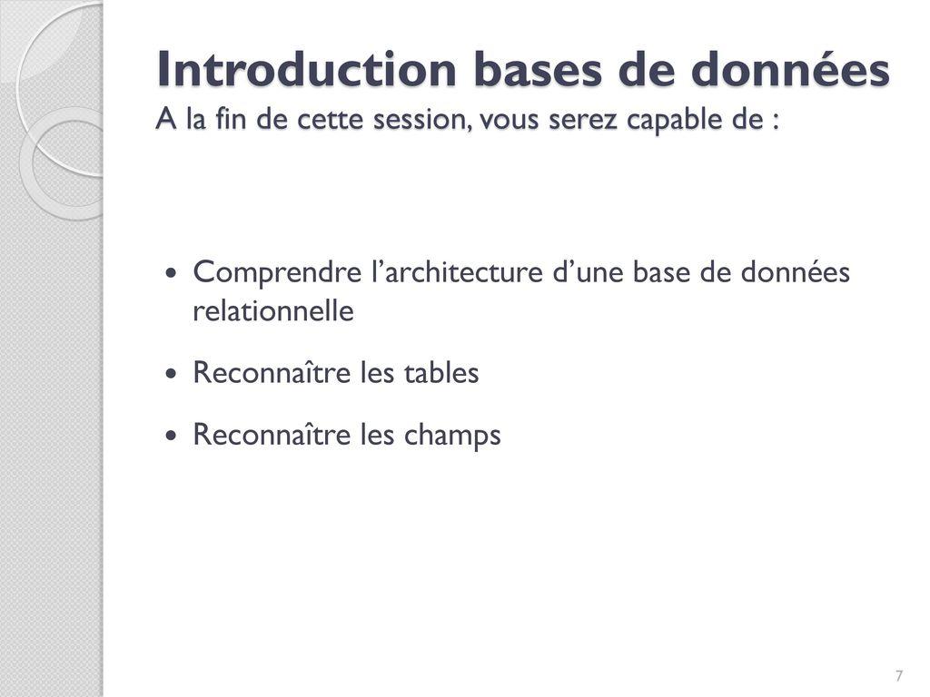 Formation Base De Donnees Et Langage Sql Pour Non Informaticiens
