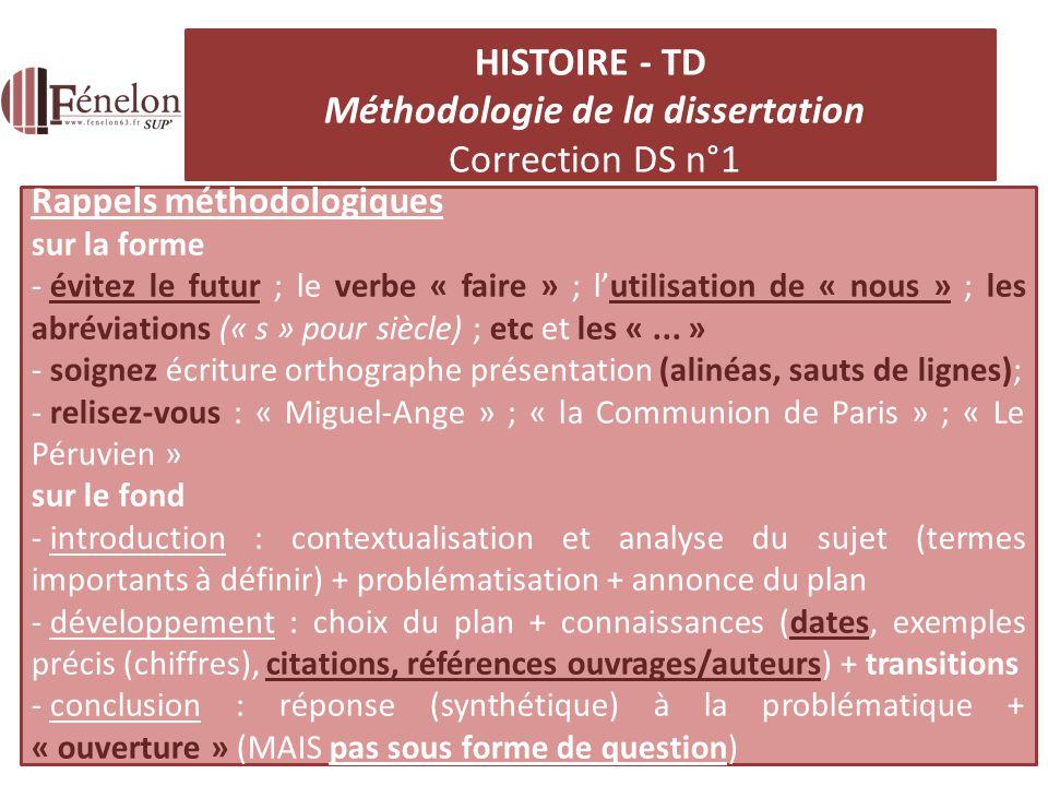 Dissertation histoire mthodologie