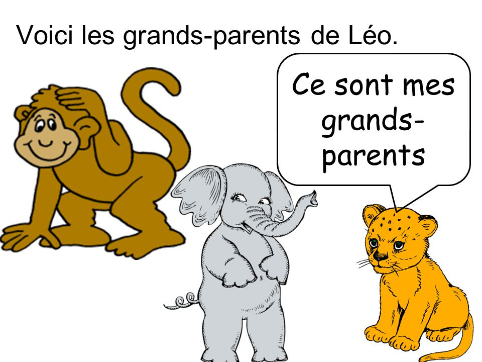 Ce sont mes grands-parents