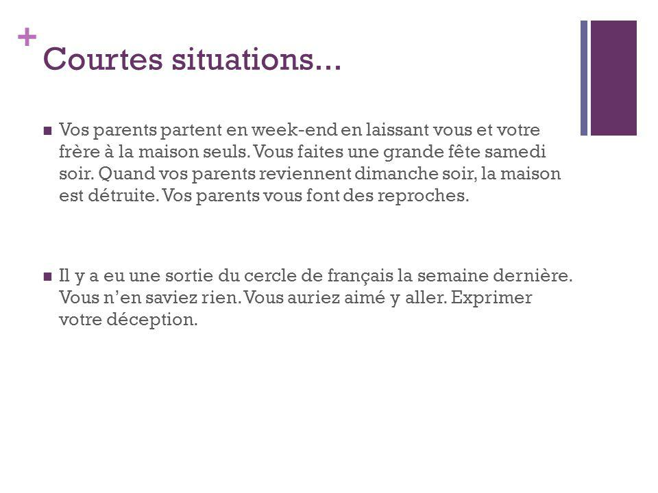 Courtes situations...