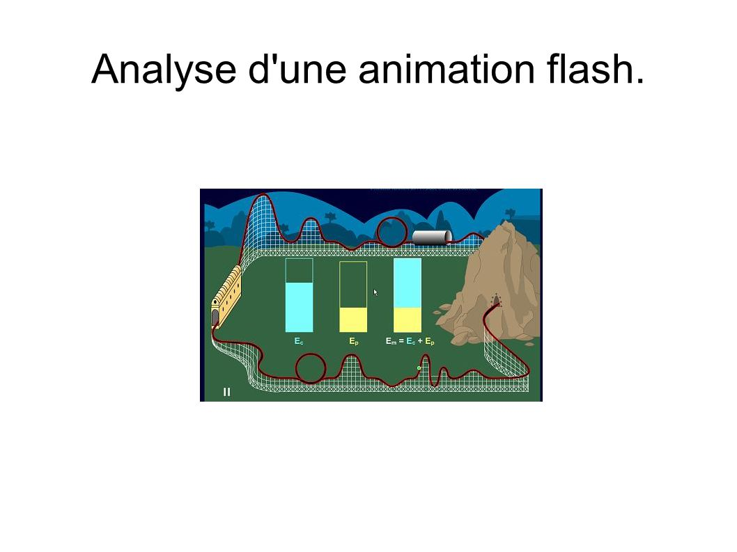 Analyse d une animation flash.