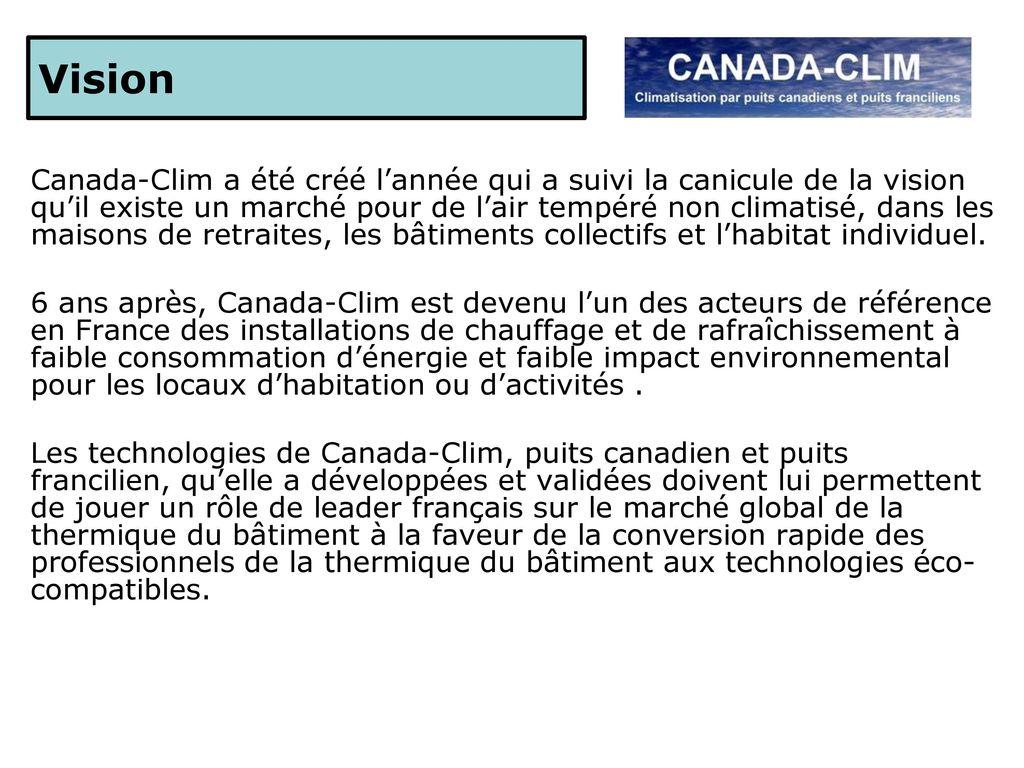 Puits Canadien Plan concernant business plan octobre ppt télécharger