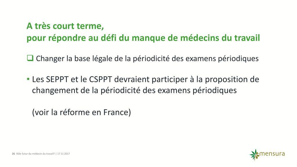 Role Futur Du Medecin Du Travail Ppt Telecharger