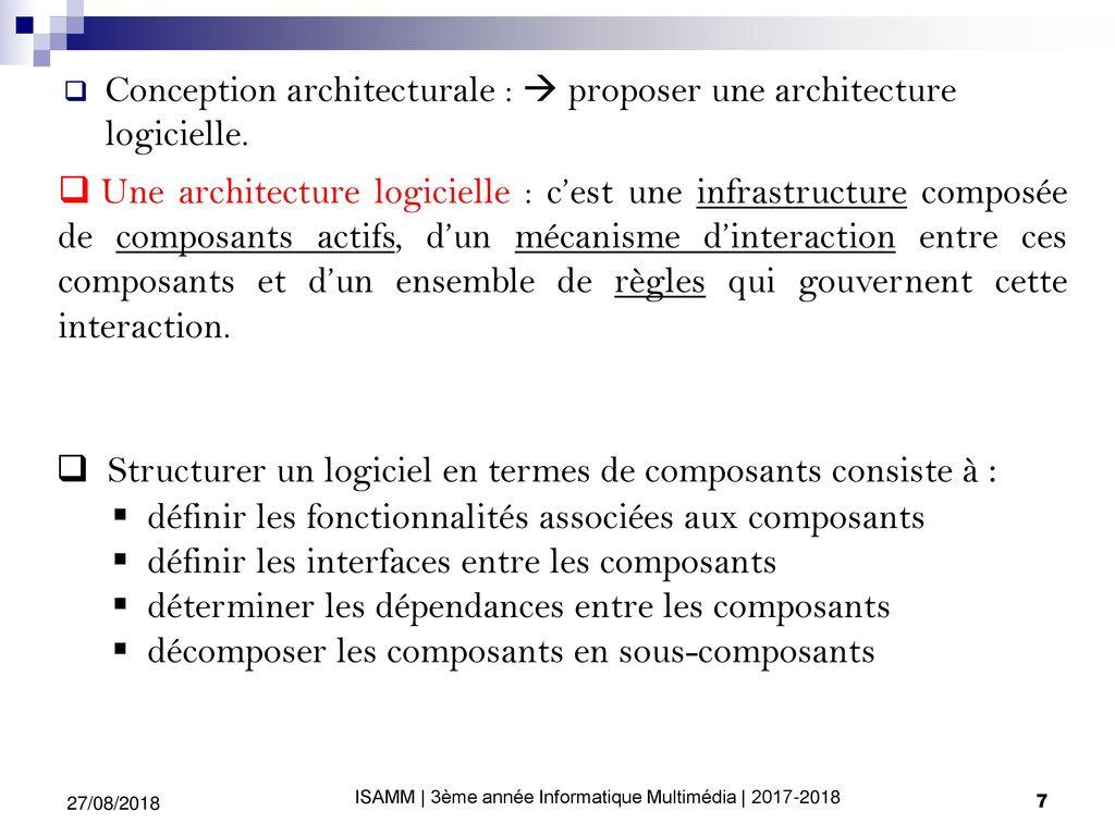 Architectures Logicielles Avancées Ppt Télécharger
