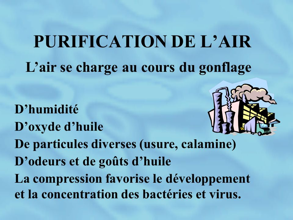 L'air se charge au cours du gonflage