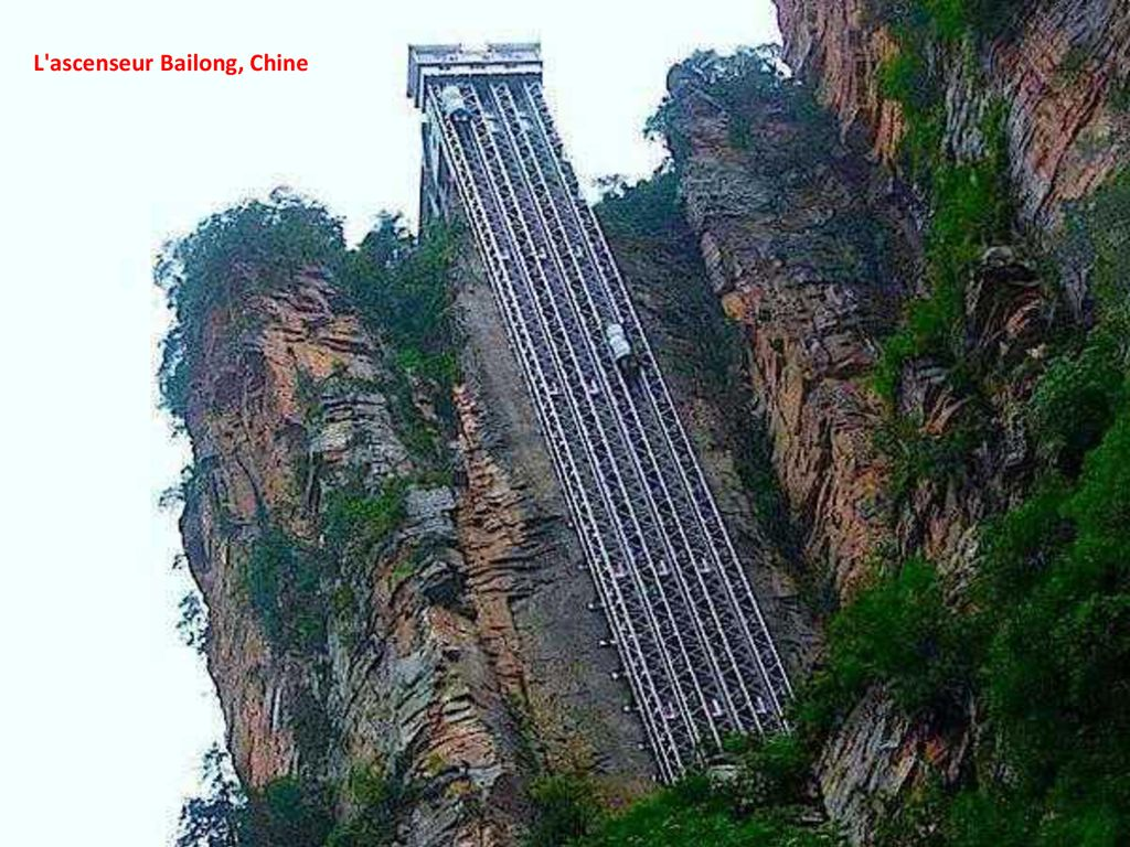 L ascenseur Bailong, Chine