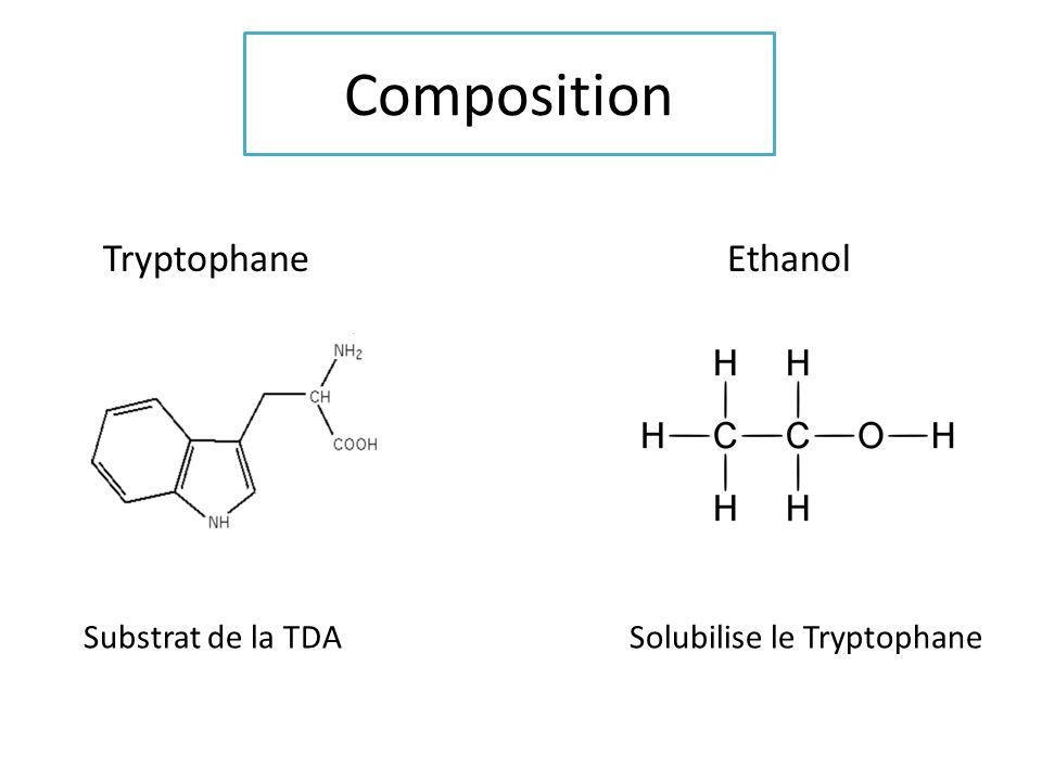 Composition Tryptophane Ethanol