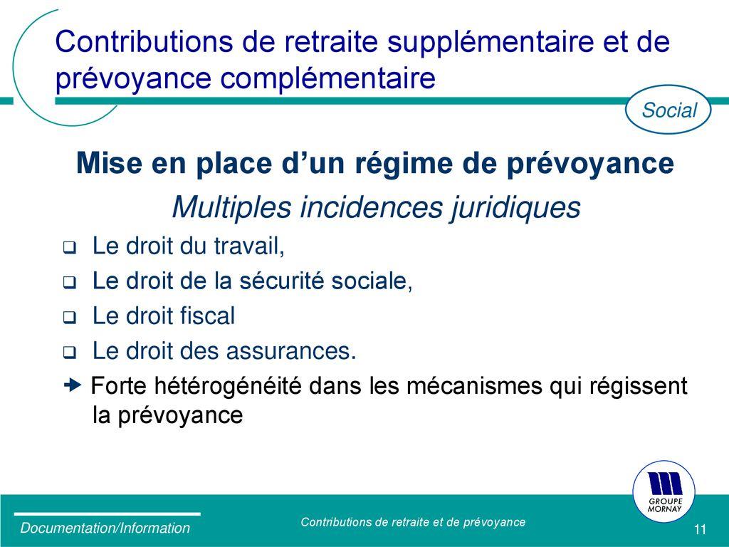 Contributions De Retraite Et De Prevoyance Ppt Telecharger