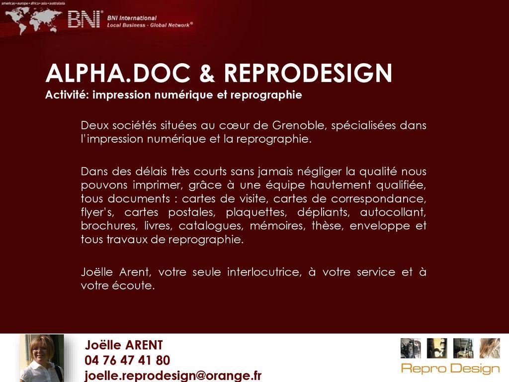 Annuaire Groupe BNI Grenoble