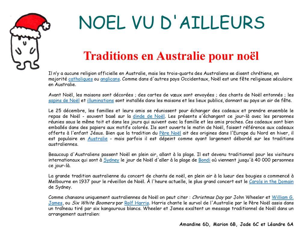Les Traditions De Noel En Australie n°1 edito : cette année, avec la participation de quelques