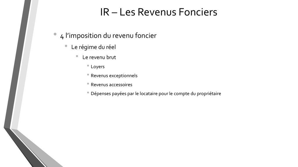 Ir Les Revenus Fonciers Rf Ppt Telecharger