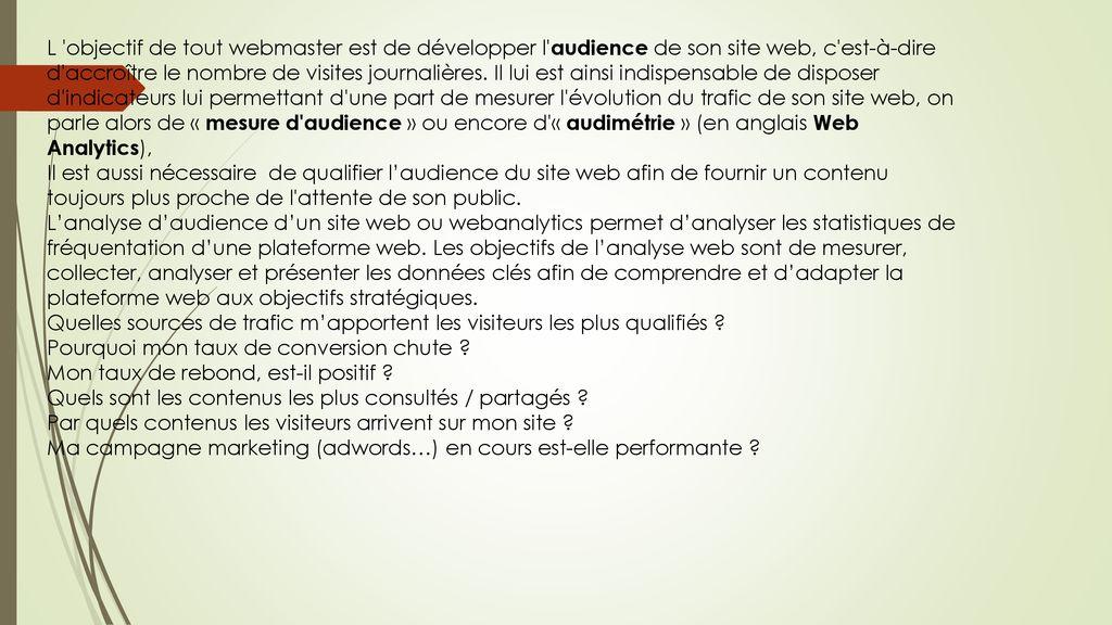Mesure D Audience Google Analytics Ppt Telecharger