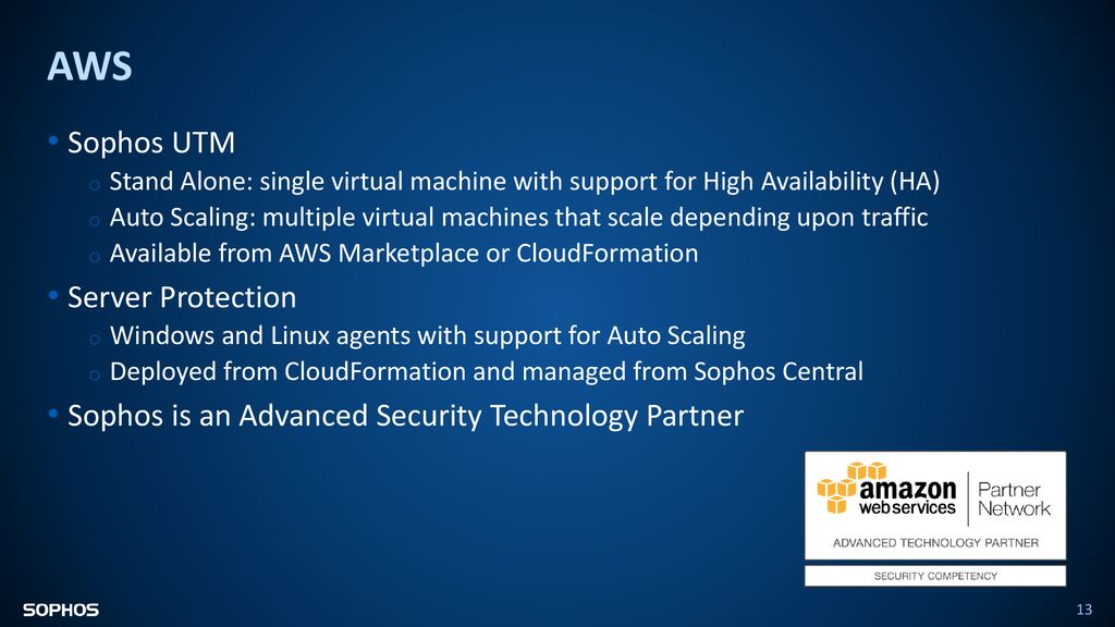 Sophos Security for IaaS - ppt télécharger