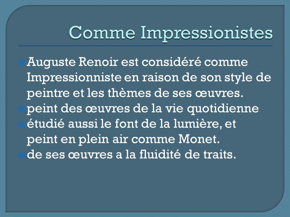 Comme Impressionistes