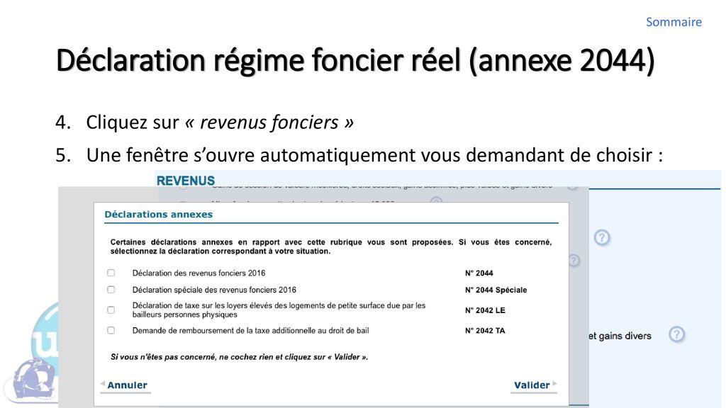 Aide A La Redaction De La Declaration Du Revenu Foncier Ppt