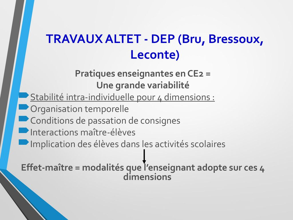 TRAVAUX ALTET - DEP (Bru, Bressoux, Leconte)
