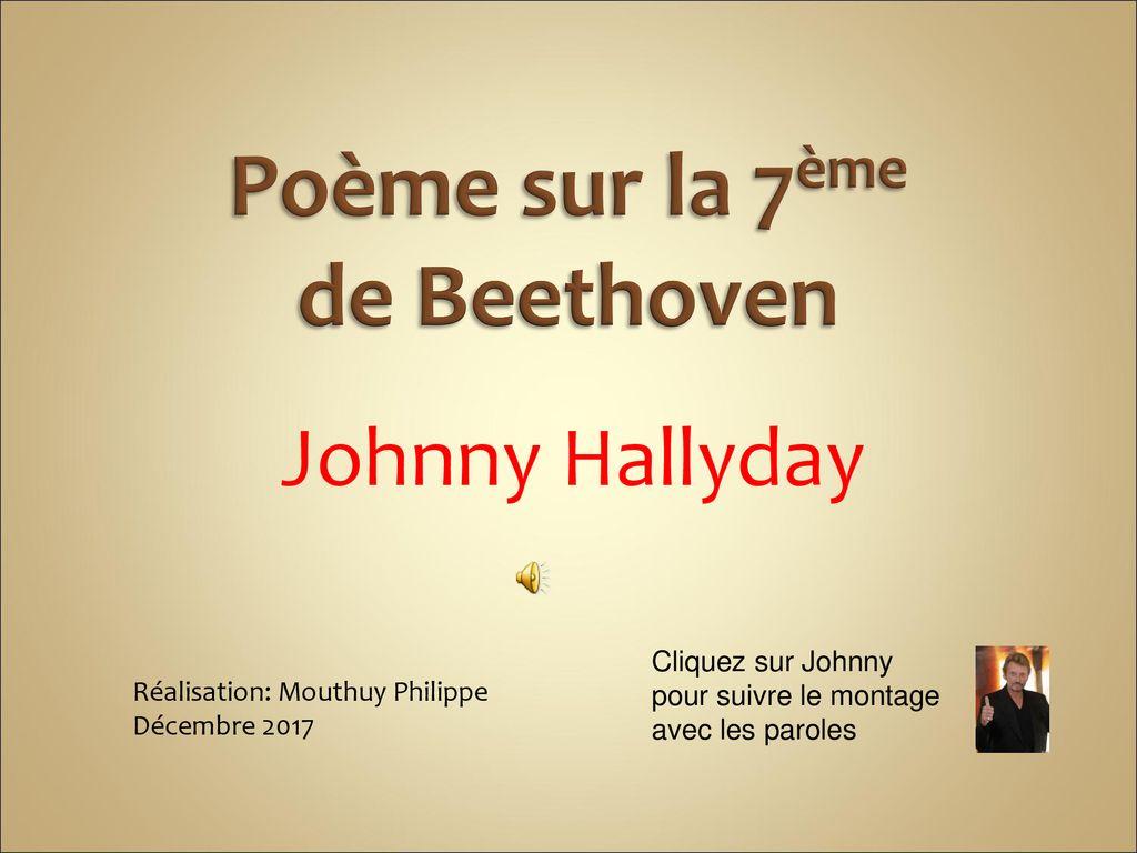 Poème Sur La 7ème De Beethoven Ppt Télécharger