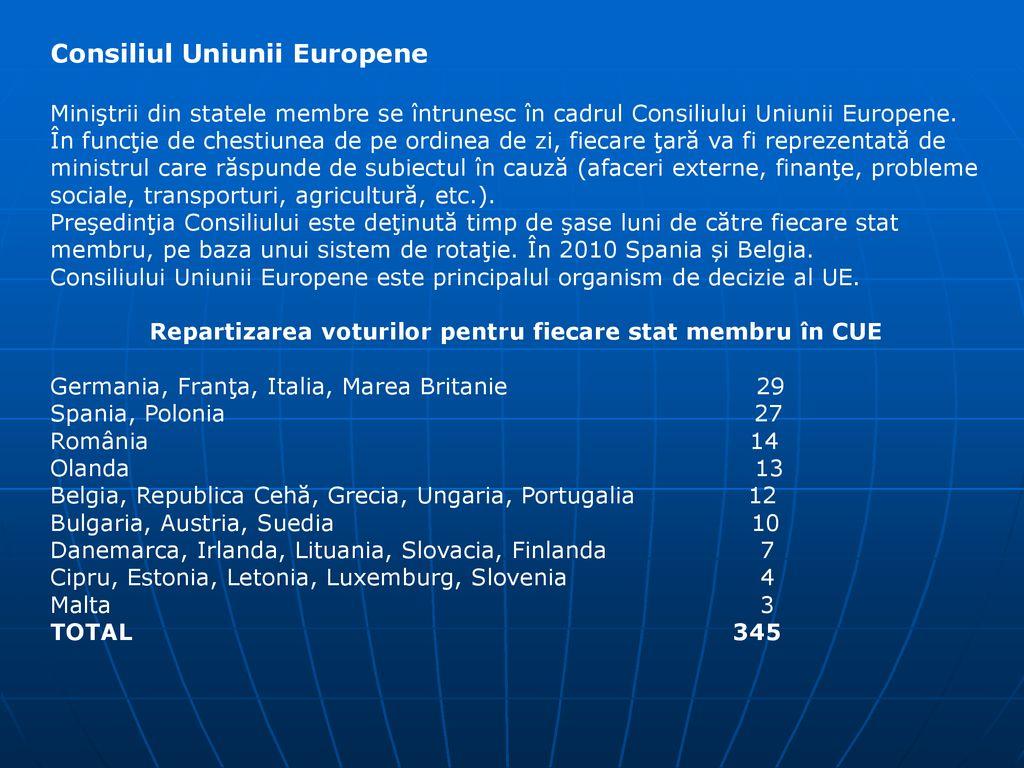 UNIUNEA EUROPEANA Este o comunitate de state independente