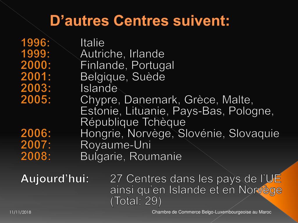 Chambre De Commerce Belgo Luxembourgeoise Ccblm Au Maroc Ppt