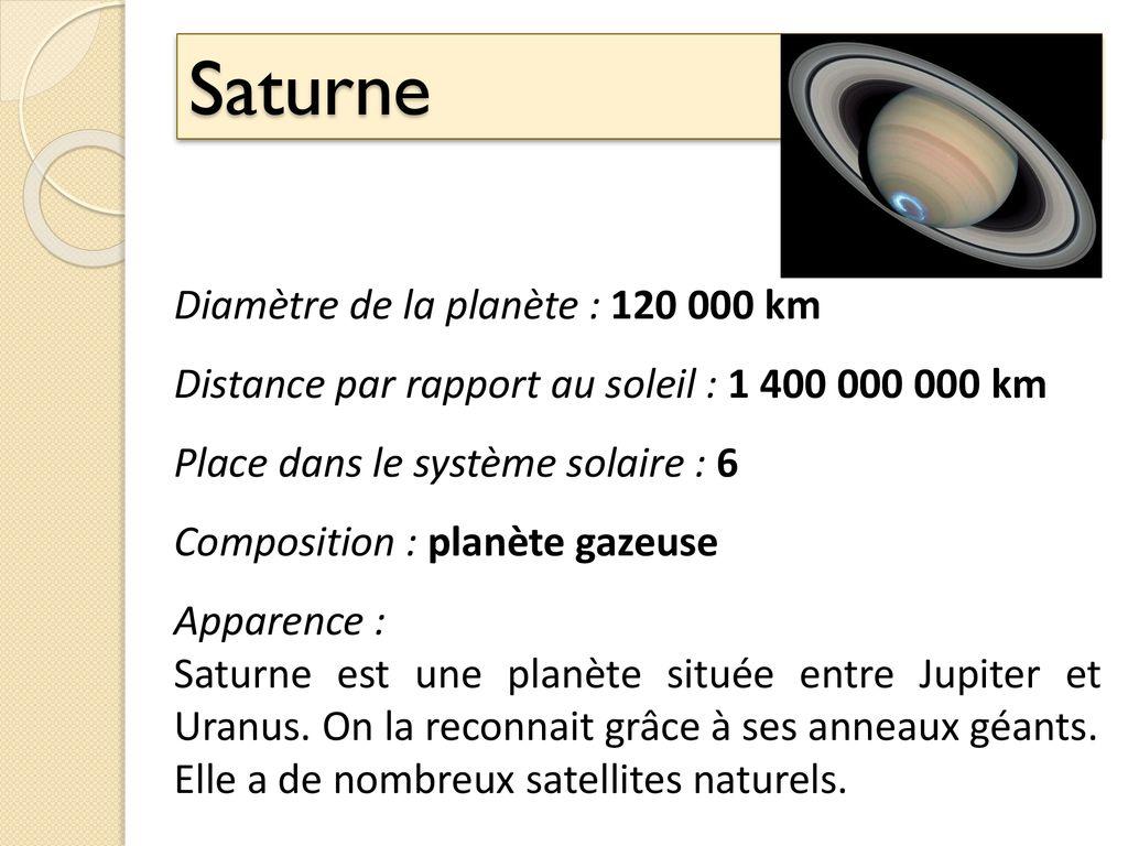 Les Fiches D Identité Des Planètes Du Système Solaire Ppt