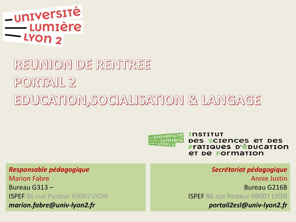Reunion De Rentree Portail 2 Educationsocialisation