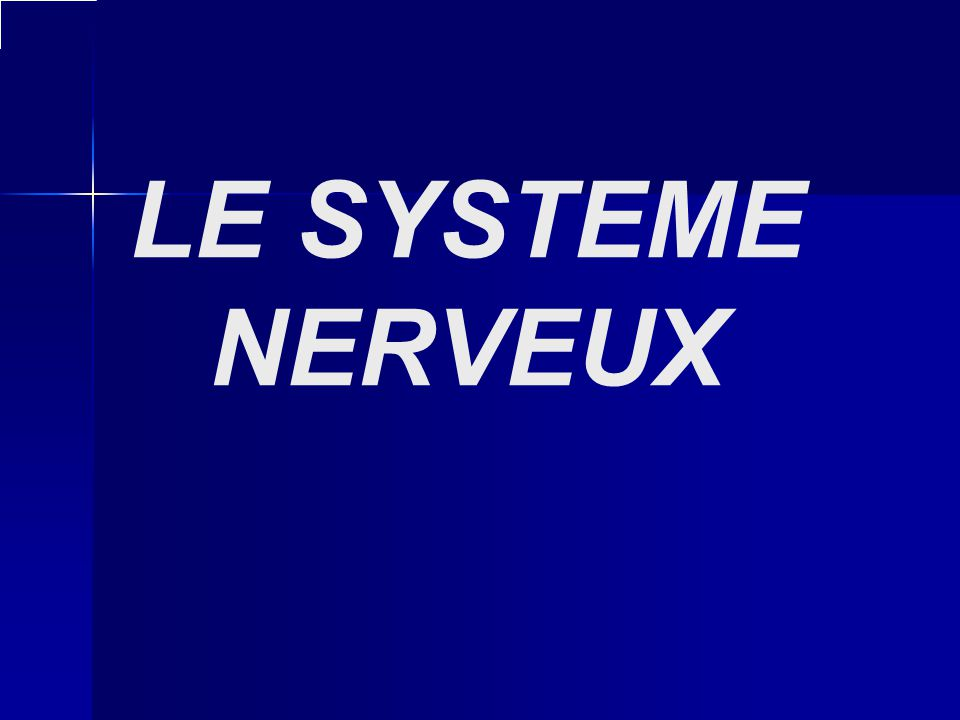 LE SYSTEME NERVEUX