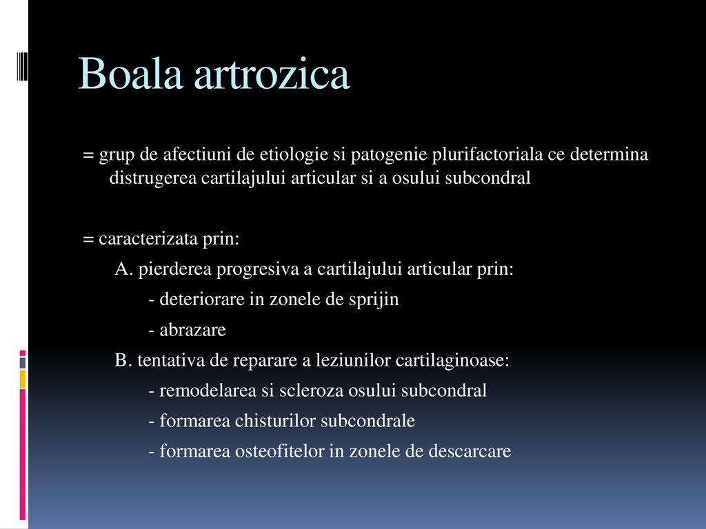 artroza etiologie patogeneza tratament clinic gelul articular