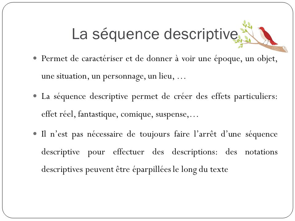 La séquence descriptive