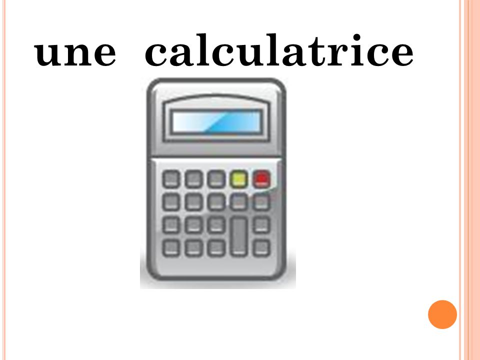 une calculatrice