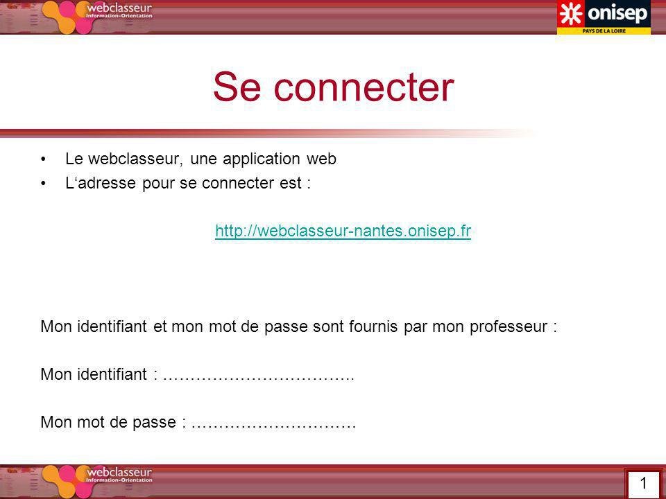 Se connecter Le webclasseur, une application web