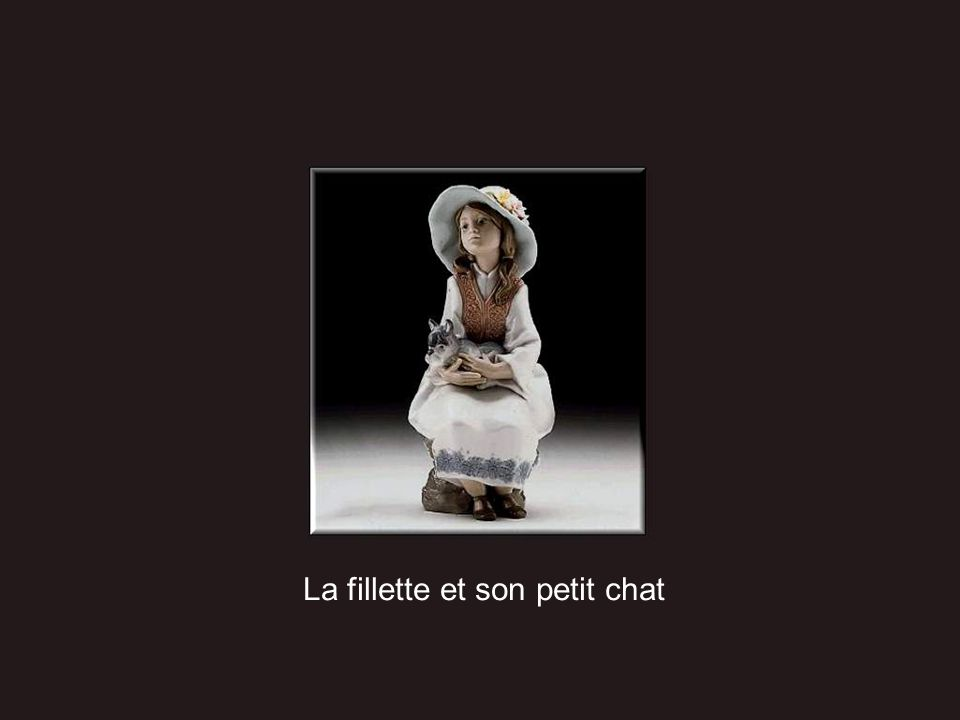 La fillette et son petit chat