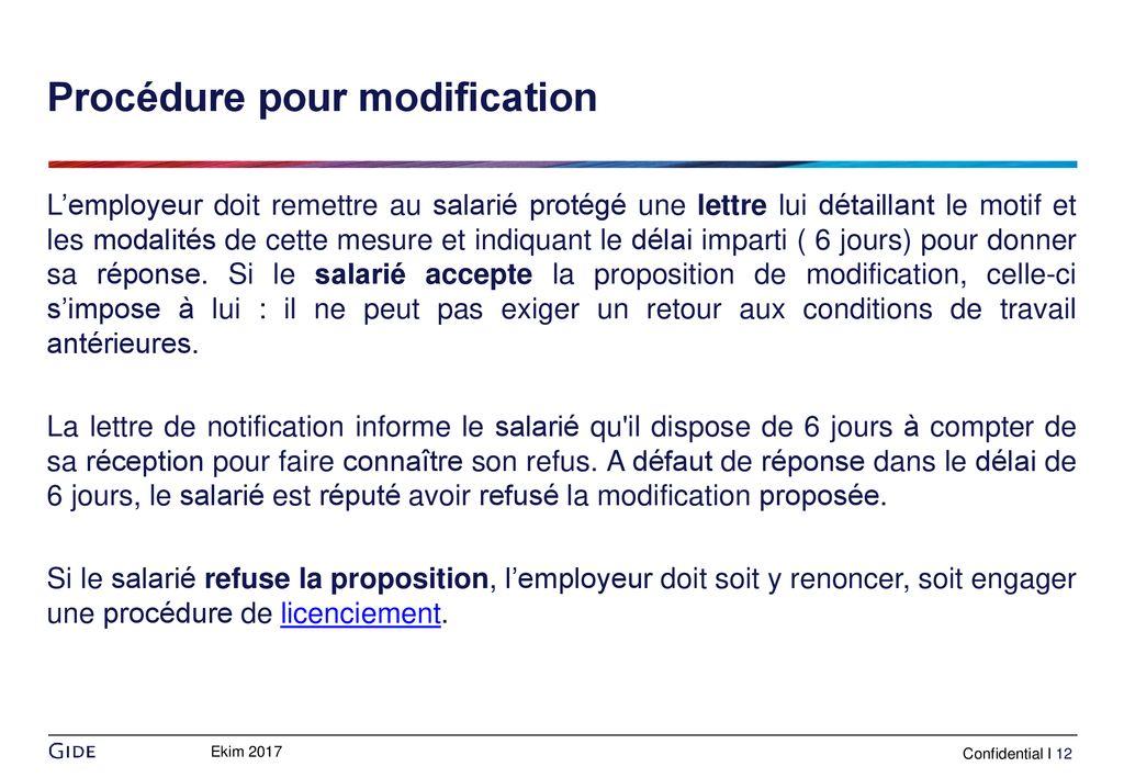 0ecb3473925 Modifications sur les conditions de travail - ppt télécharger