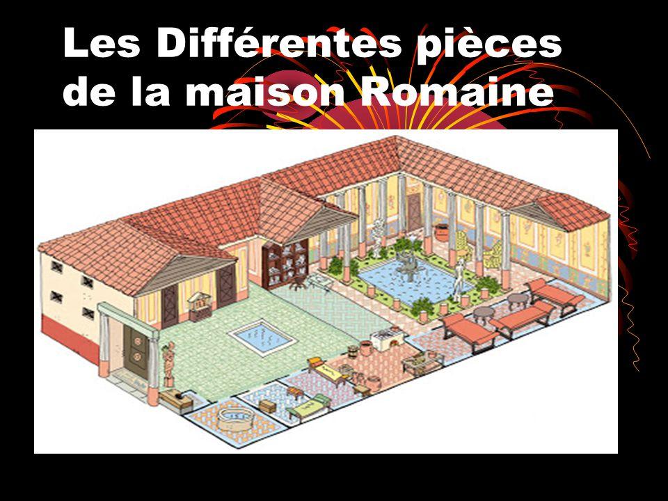 les diff rentes pi ces de la maison romaine ppt t l charger. Black Bedroom Furniture Sets. Home Design Ideas