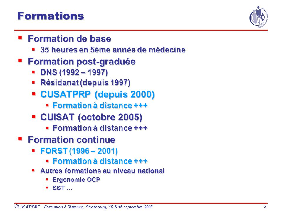 formation a distance medecine