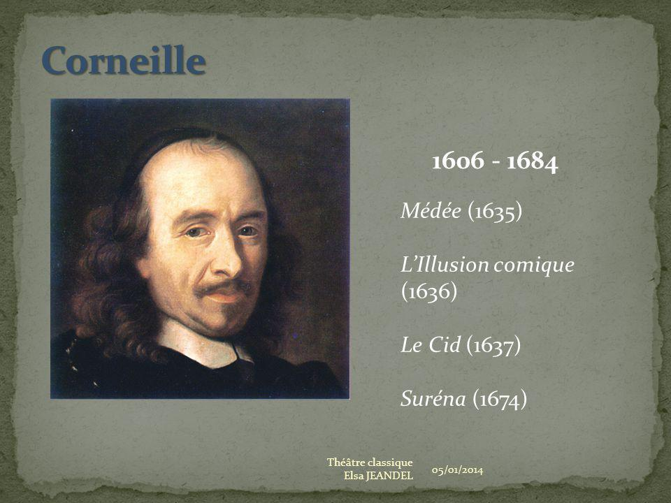 Corneille Médée (1635) L'Illusion comique (1636)