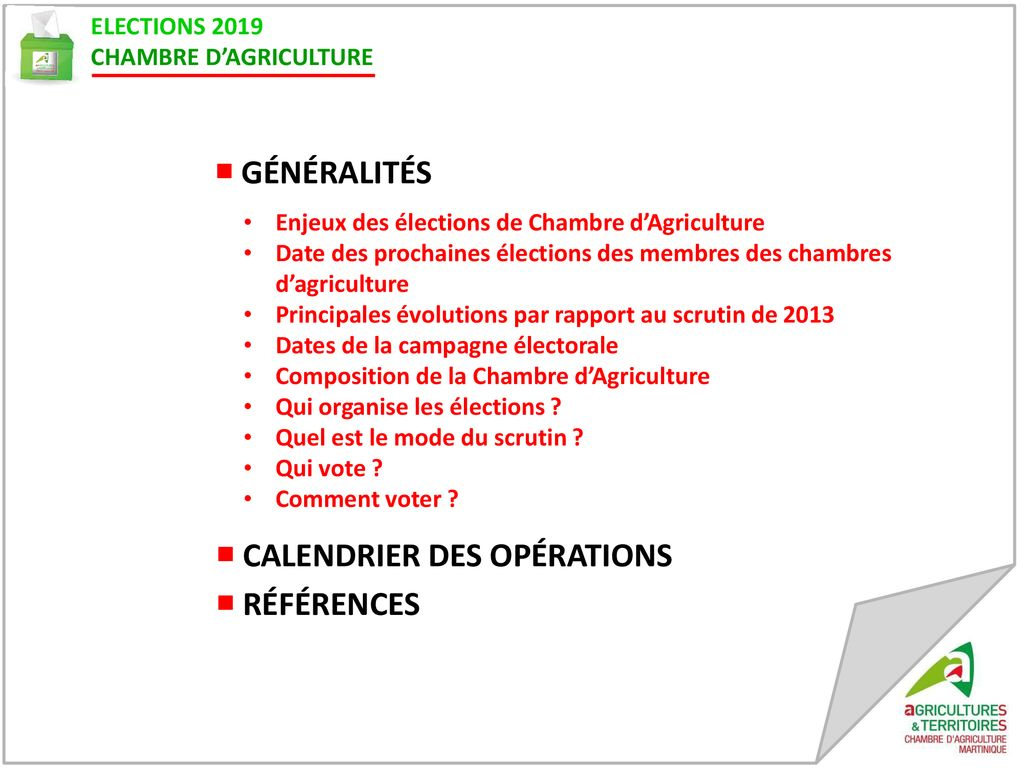 Calendrier Electoral 2019.Elections 2019 Chambre D Agriculture Ppt Telecharger
