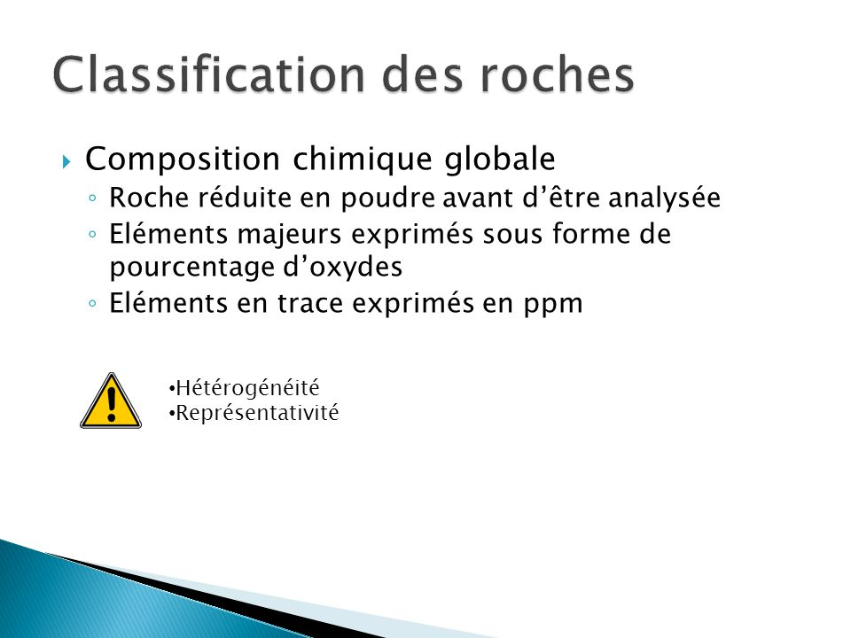 Classification des roches