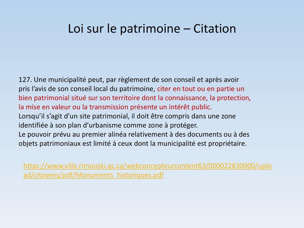 Le Patrimoine Bâti De Rimouski Animateur Michel L Saint