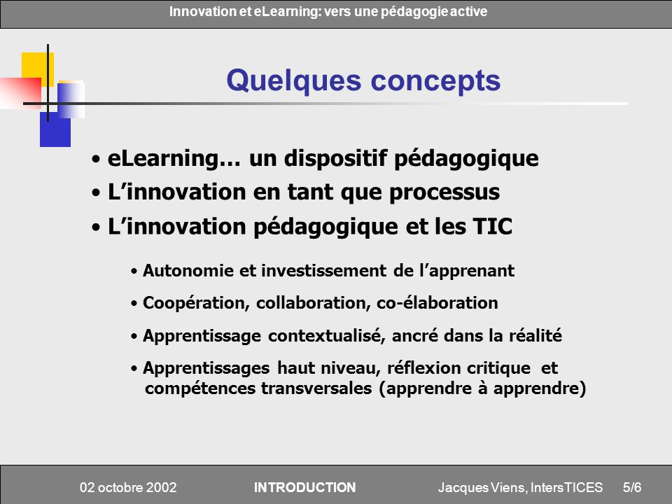 Quelques concepts eLearning… un dispositif pédagogique