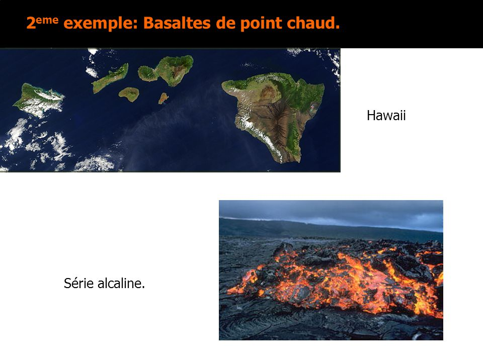 2eme exemple: Basaltes de point chaud.
