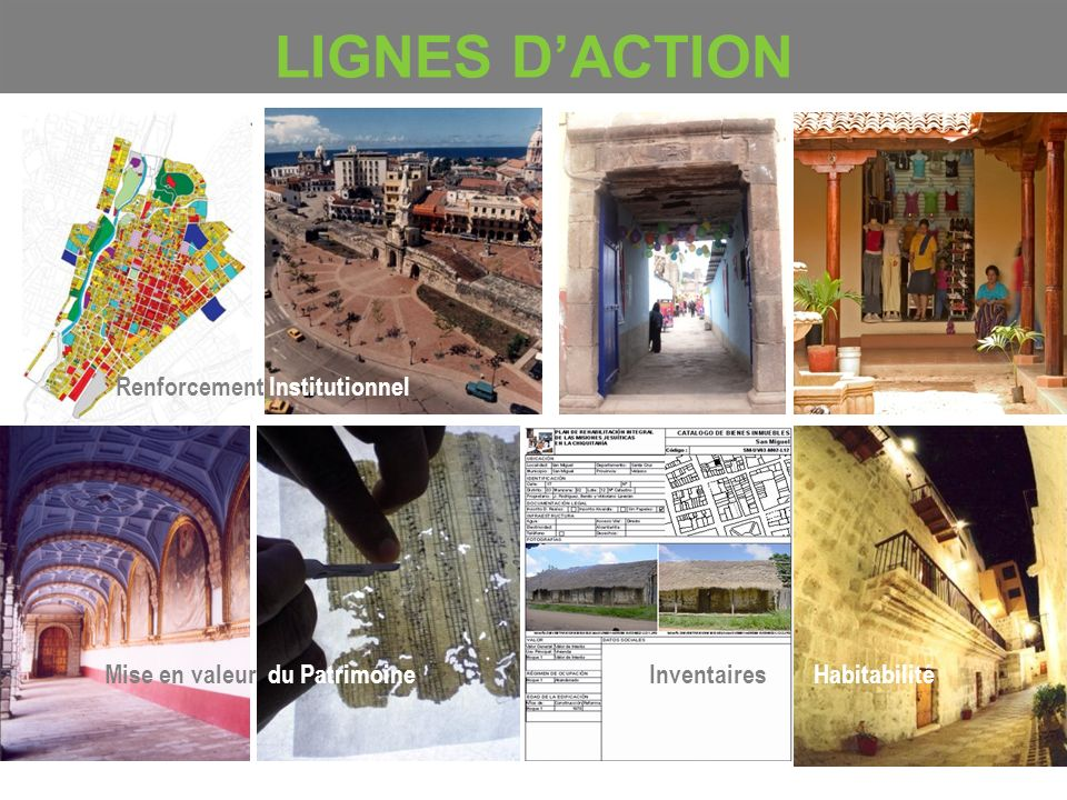 LIGNES D'ACTION Renforcement Institutionnel