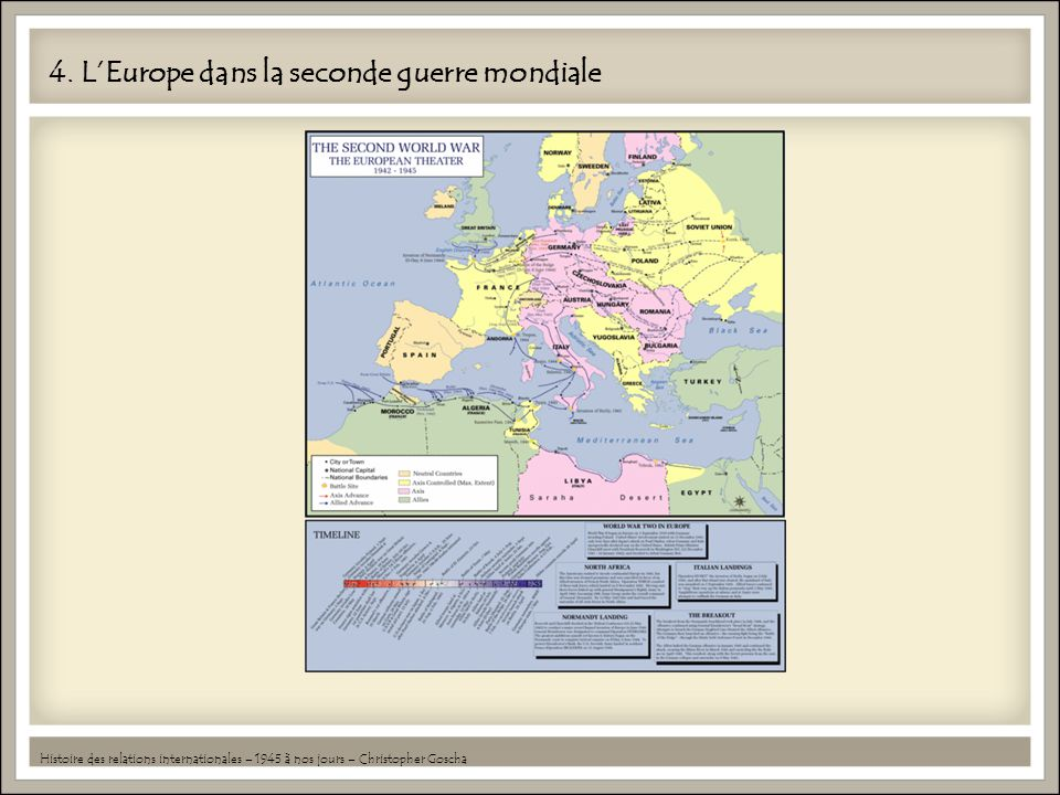 4. L'Europe dans la seconde guerre mondiale