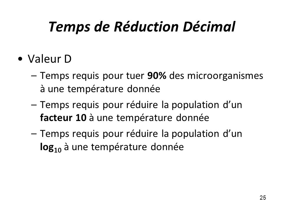Temps de Réduction Décimal