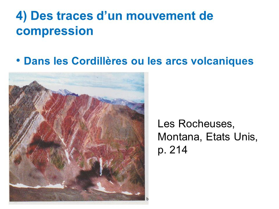 4) Des traces d'un mouvement de compression
