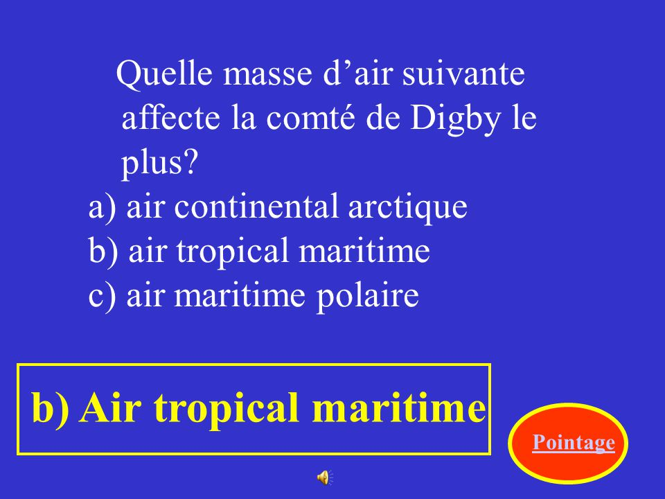 b) Air tropical maritime