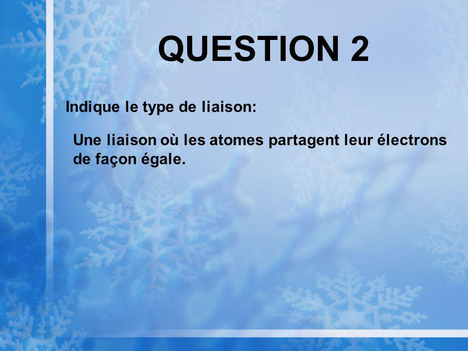 QUESTION 2 Indique le type de liaison: